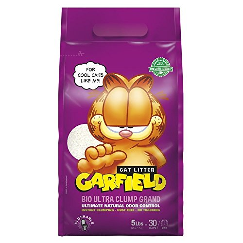 Garfield Cat Litter, Flushable, Instant Clumping, Natural, 5 lbs
