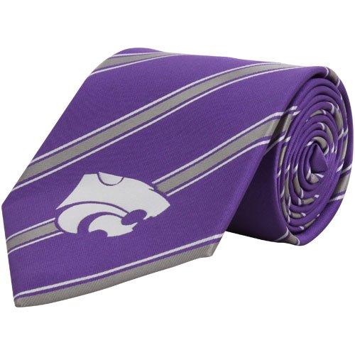 NCAA Kansas State Wildcats Purple Striped Woven Tie