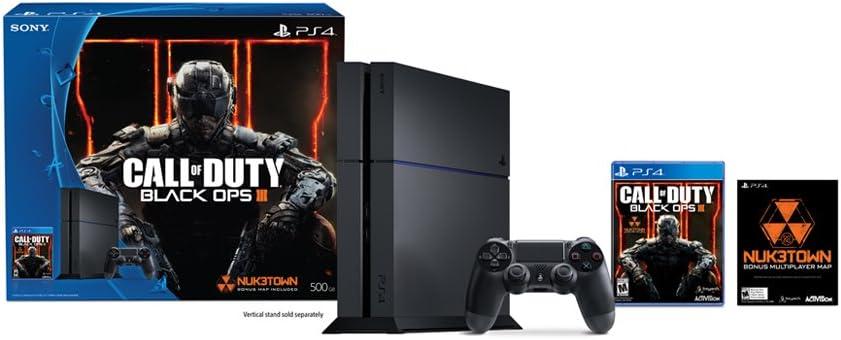 Sony Call of Duty: Black Ops III PlayStation 4 Bundle Negro 500 GB Wifi - Videoconsolas (PlayStation 4, Negro, 8192 MB, GDDR5, GDDR5, AMD Jaguar): Amazon.es: Videojuegos