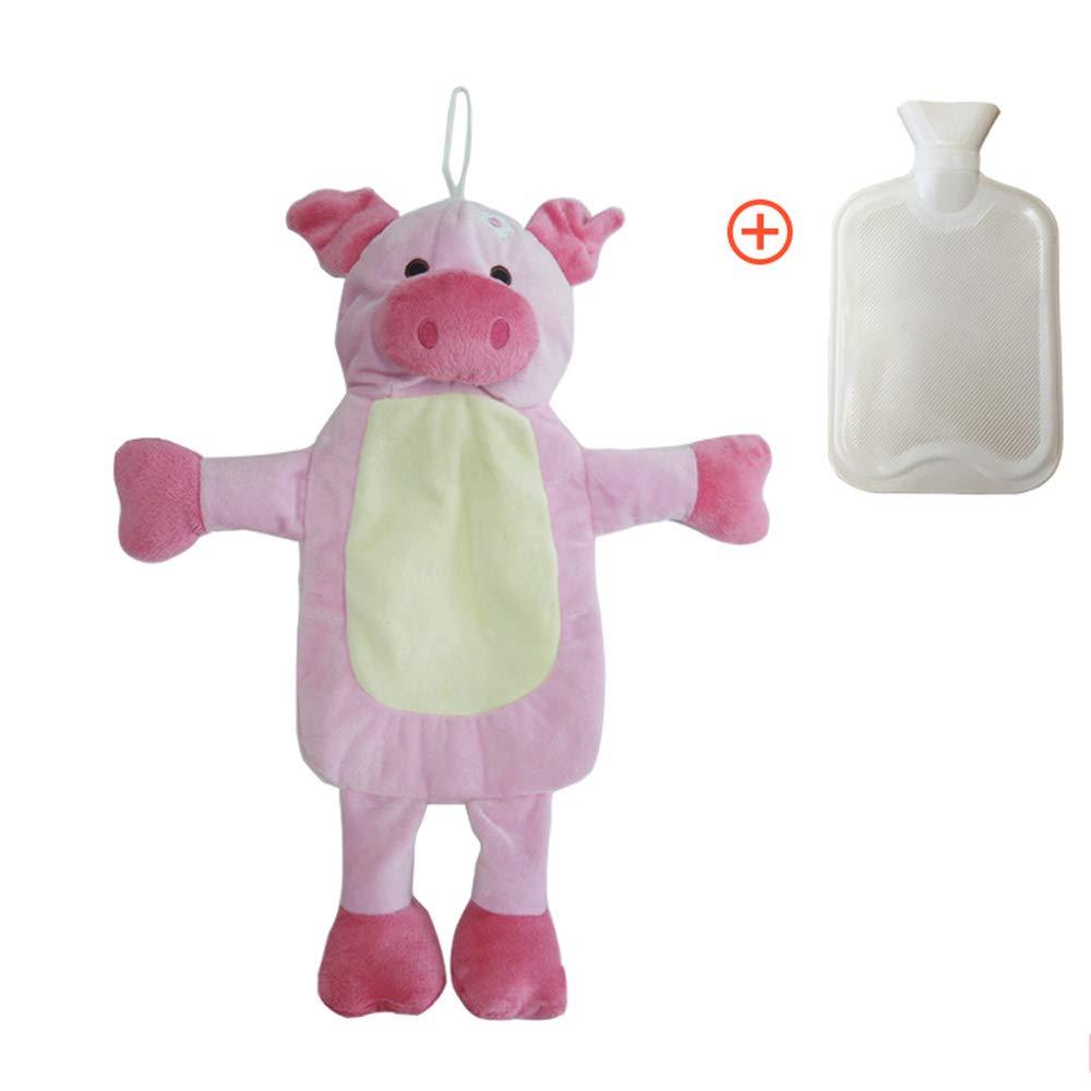 ZDYLL Schöne Wärmflasche mit Abnehmbaren Weichen Plüsch Animal Piggy Cover Piggy Animal Zebra Bär Handwärmer Wasser Füllung Hot Water Bag c81b9c