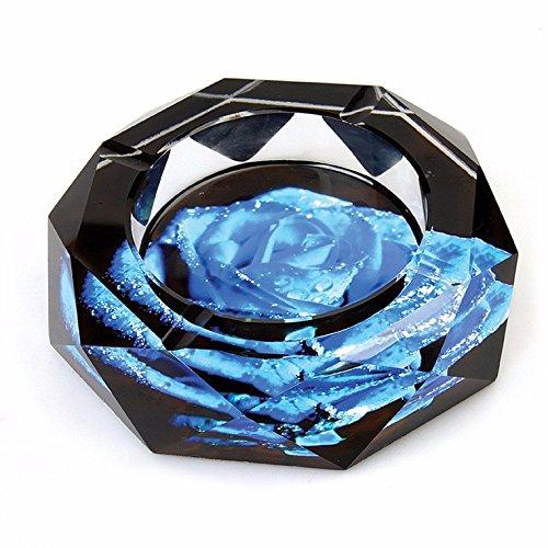 SFSYDDY-Color Crystal Ashtray, Crystal Ashtray Ornaments, Car Ashtray Mark 15Cm,C