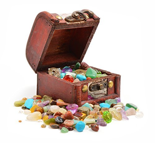 Pirates' Treasure Chest - Crammed with Gemstones, Pearls and Jewels! (Pack of 1) by Fossil Gift Shop