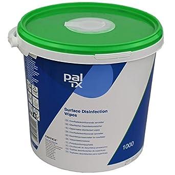 PAL W131230T Toallitas de limpieza desinfectantes sin alcohol (paquete de 1000)