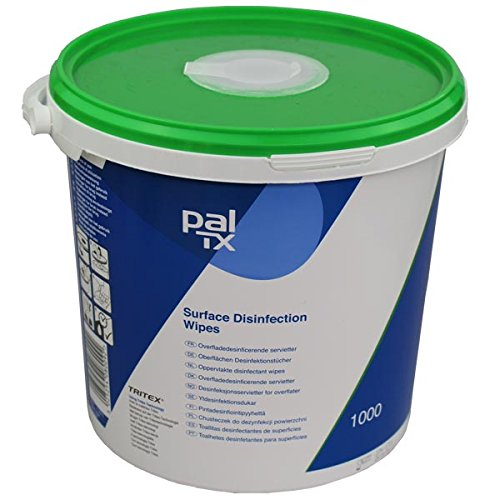 PAL W131230T Disinfectant Alcohol Free Cleaning Wipes (Pack of 1000) PAL International Ltd
