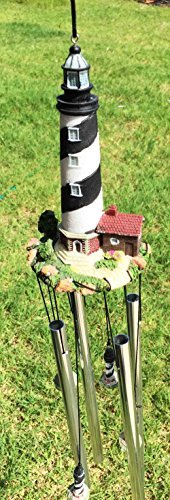 Cape Hatteras Lighthouse Nautical Beacon Resonant Relaxing Wind Chime Patio Garden Decor