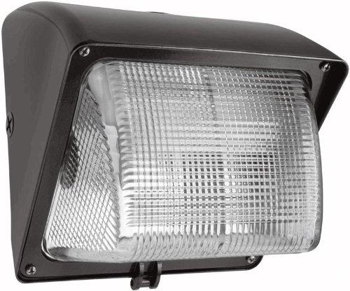RAB Lighting WP1GSN35PC Wallpack 35-Watt, High Pressure Sodium 120-Volt Glass Lens Lamp 120-Volt Photocell, Bronze