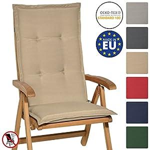 Beautissu Cuscino per Sedia a Sdraio Loft HL 120x50x6cm Resistente e Comodo Anche per sedie reclinabili, spiaggine e… 3 spesavip
