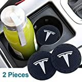 monochef Auto Sport 2.75 Inch Diameter Oval Tough Car Logo Vehicle Travel Auto Cup Holder Insert Coaster Can 2 Pcs Pack Fit Tesla Accessory: more info