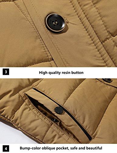 Foderato Incappucciato Jacket 3xl Addensato Down Puffer Menschwear Pile Beige Collare Di Uomo S Giacca Piumino Pelliccia fq8w7X5