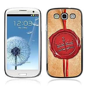 Paccase / Dura PC Caso Funda Carcasa de Protección para - BIBLE Sealed With Holy Spirit - Samsung Galaxy S3 I9300