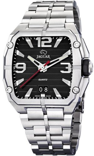 Jaguar J641/C - Reloj de pulsera de hombre, correa de acero inoxidable color plata: Jaguar: Amazon.es: Relojes