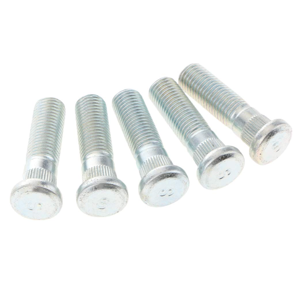 B Blesiya 5 Pieces M10x1.5 Wheels Tires Knurl Studs Stud Bolts for Honda Acura Isuzu