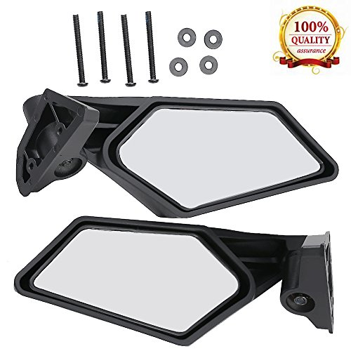 One Pair Rear View Racing Side Mirror For Can-Am Maverick X3 4x4 2017 2018 No. -