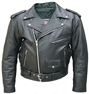 Amazon.com: Men's Black Genuine FULL GRAIN BUFFALO Leather ...