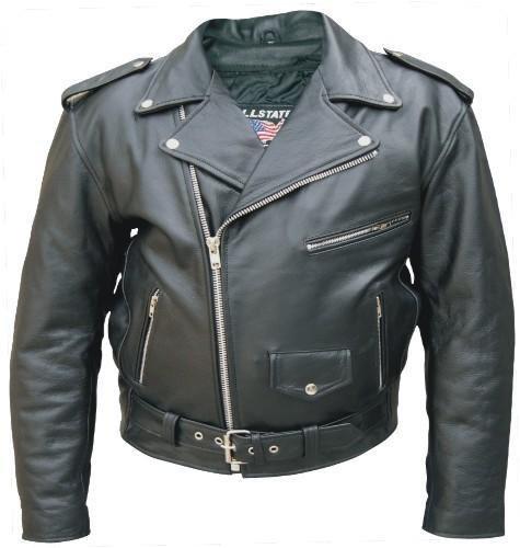Men's Black Genuine FULL GRAIN BUFFALO Leather Motorcycle Biker Jacket Sizes - Biker Leather Jacket Buffalo