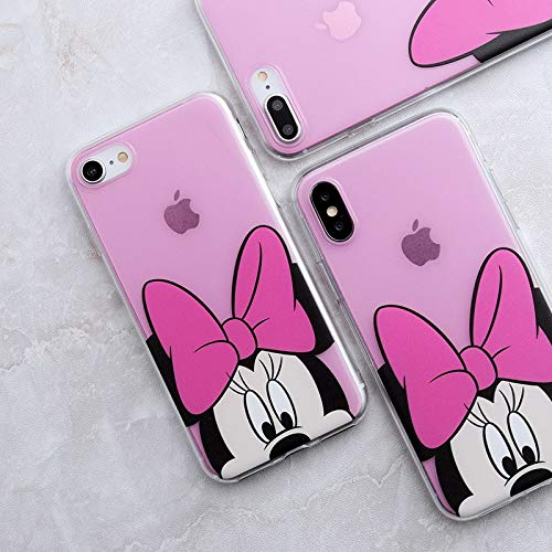 Maxlight Cartoon Mickey Minnie Pig Phone Case for iPhone 7 Soft TPU Case Cover for iPhone 7 8 Plus X Xs max XR (B, for iPhone 7plus 8plus)