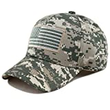 THE HAT DEPOT Tactical Operator USA Flag Cap (Flag-Digital Camo)