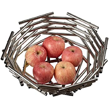 Visol Products Girard Stainless Steel Fruit Bowl, Large