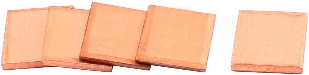 NA Copper PC Laptop CPU Pad Pads Heatsink Thermal fit 15x15x2.0mm 5pcs