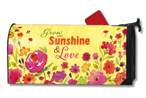 MailWraps Grow With Sunshine Mailbox Cover #03308