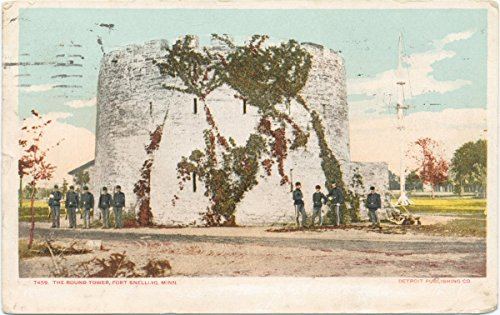 Snelling Round Print - Historic Pictoric Postcard Print | Round Tower, Fort Snelling, Minn, 1903 | Vintage Fine Art