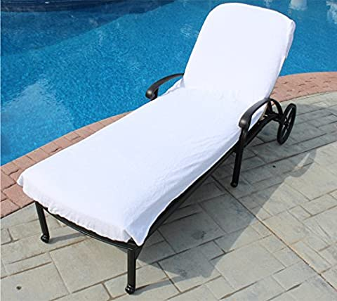 Lounge Chair Cover Luxury Turkish Cotton Side Pocket Option Eco-friendly (34