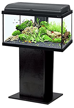 Conjunto Acuario AquaDream 60 Negro LED + mueble: Amazon.es ...