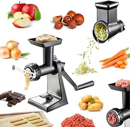 Profesional multifunción Robot de cocina Talent manual – Máquina de picar carne, galletas, Bratwurst vorsatz. Rallador de carga para verduras, frutas, nueces, queso, chocolate, etc.: Amazon.es: Hogar