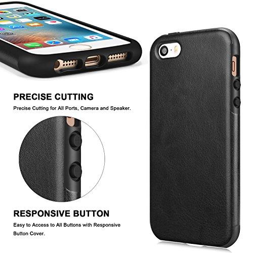 Apple iPhone 5 5s/pelle Custodia in silicone SE grande