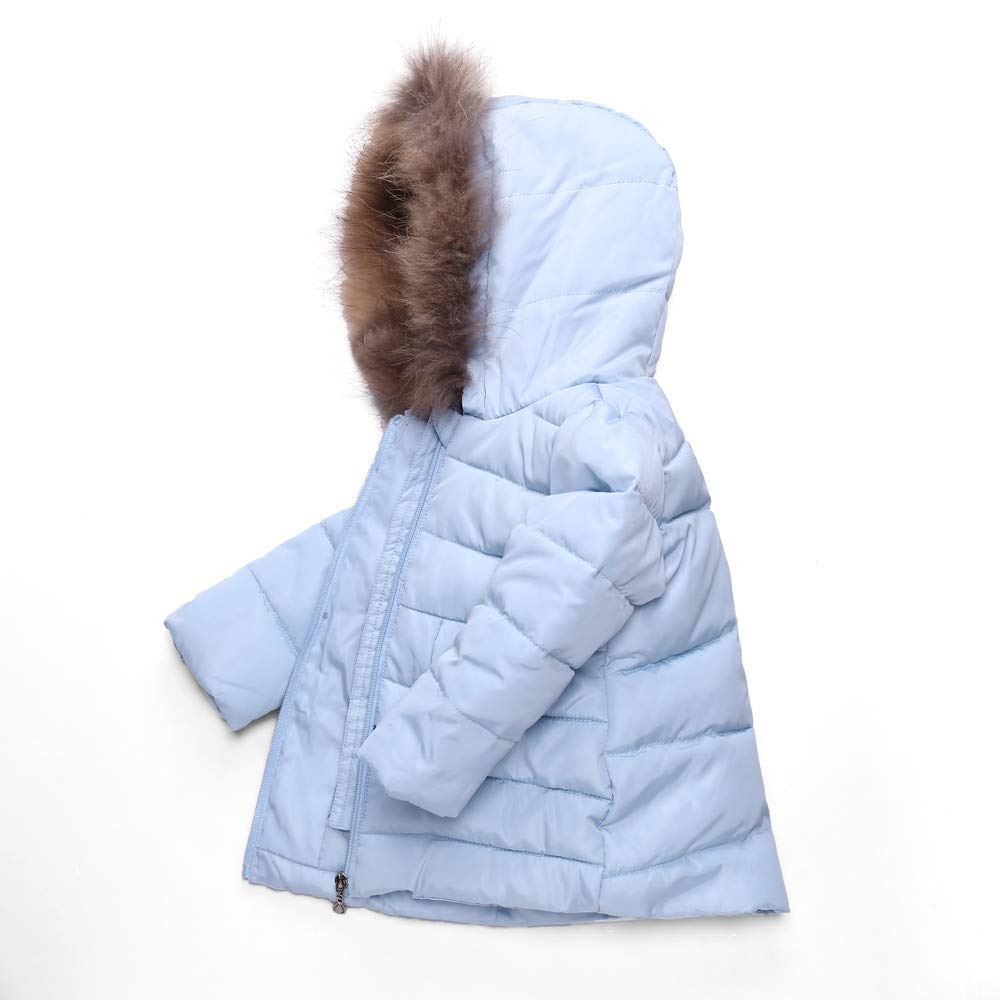 FORESTIME Kids Baby Big Girls Winter Down Parka Thick Hooded Outwear Feather/ Collar Long Coat