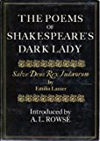 img - for Poems of Shakespeare's Dark Lady =: Salve Deus Rex Judaeorum by Rowse A. L. (1979-01-01) book / textbook / text book