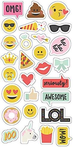 Simple Stories Emoji Love 6x12 Chipboard