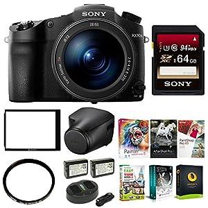 Sony DSC-RX10 III Cyber-shot Camera w/ 64GB SD Card & Leather Case Bundle