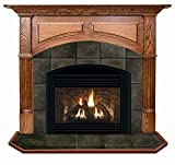 Geneva Arched Flush Oak Fireplace Mantel in Traditional Cherry Finish (Golden Oak 40 in. x 48 in.)