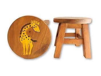 Bois Gifts Girafe Tabouret Thai Enfant En DH29IWE