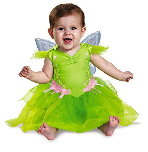 Cheap Halloween Costumes For 12-18 Months (Disguise Baby Girls' Tinker Bell Deluxe Infant Costume, Green, 12-18)