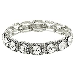 Crystal Stretch Wedding Bracelet