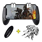 OMUKY Mobile Game Controller Six Finger Operation Gaming Trigger Fire Button and Mobile Grip,Sensitive Shoot and Aim Triggers for PUBG/Knives Out/Rules of Survival Apply to Android,iPhone