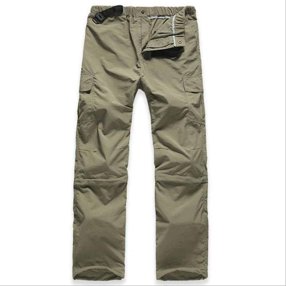 Hibasing Pantalones de Senderismo Impermeables Removibles Hombre