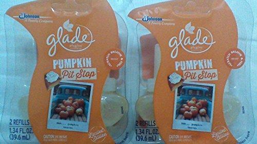 4 Glade Plugins Pumpkin Pit Stop Scented Oil Refills Pie