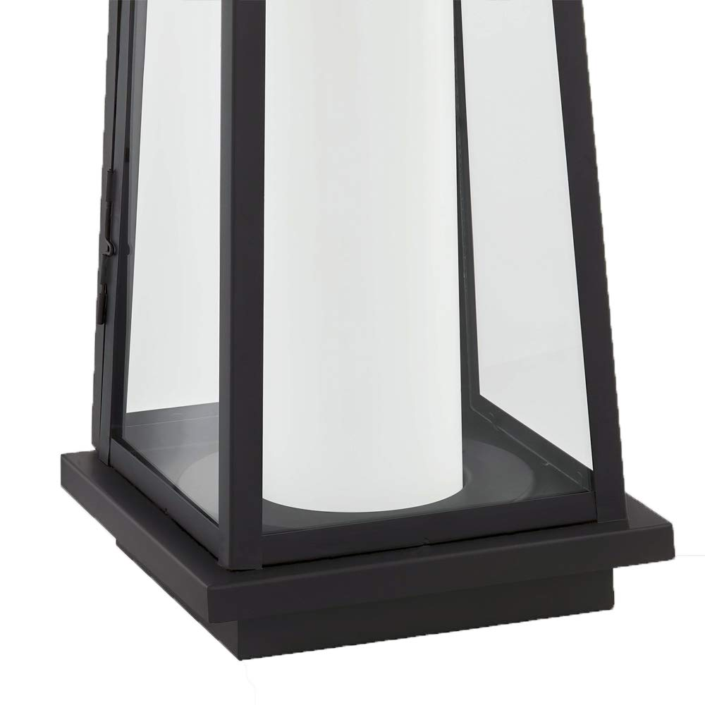 Stone & Beam Modern Traditional Decorative Metal and Glass Lantern with Candle, 25''H, Black, For Indoor Outdoor Use by Stone & Beam (Image #7)