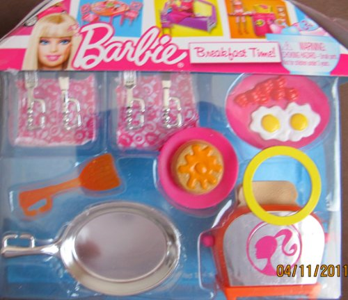 Mattel Barbie Breakfast Time Playset w Pop Up Toaster, Fr...