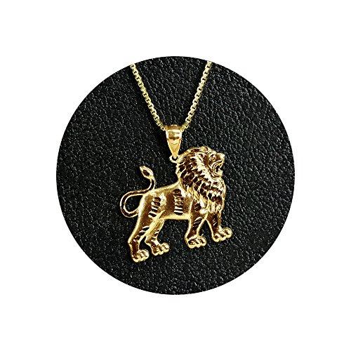 Lions Full Body (LoveBling 10K Yellow Gold Full Body Lion Charm Pendant (0.95