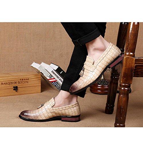 Pinuo 2016 Quotidienne Loisirs Mode Unique Chaussures Britannique Dentelle Tendance Respirant En Cuir Chaussures Beige