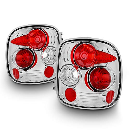 Fits 1999-2004 Chevy Silverado | GMC Sierra Stepside Model Chrome Clear Tail Lights Rear Brake Driver/Passenger Lamps