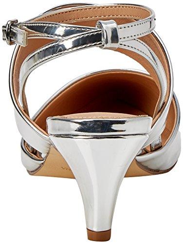 Unbekannt Damen Maple W Riemchen Pumps Silberfarben