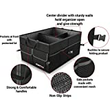 Car Trunk Organizer for SUV Truck by FORTEM | Auto Durable Collapsible Cargo Storage | Non Slip Bottom Strips to Prevent Sliding