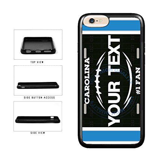 BleuReign(TM) Personalized Custom Name Football Carolina License Plate TPU RUBBER SILICONE Phone Case Back Cover For Apple iPhone 6 6s (4.7 Inches ()