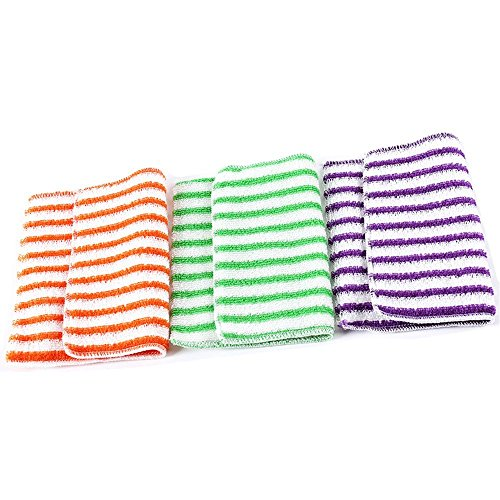 Korean 100% Bamboo Fiber Dish Cleaning T - Stripe Dish Towel 3 Piece Shopping Results