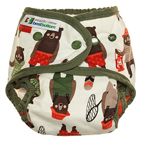 Bigger Best Bottom Cotton Diaper - Snap - Brawny Bears - Made In The (Bigger Bears)